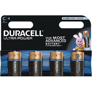 Duracell Ultra Power C Pack von 4