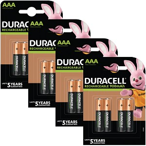 Duracell Pre-Charged AAA 800mAh 16 Pk