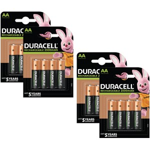 Duracell Pre-Charged AA 2500mAh x 16